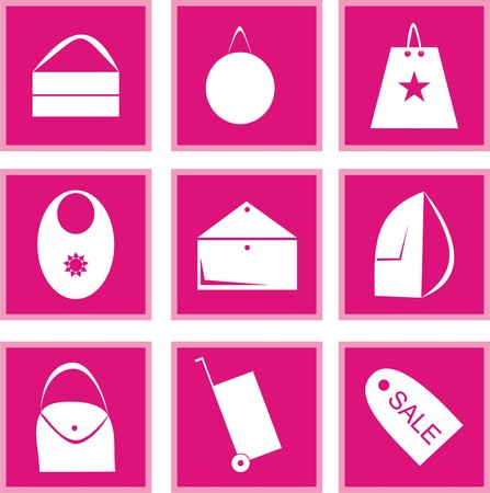 Set of icons of a bag
