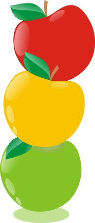 Apple traffic light Illustration