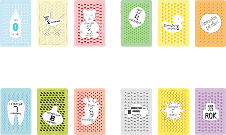 Cards for baby photos Фото со стока - 104514439