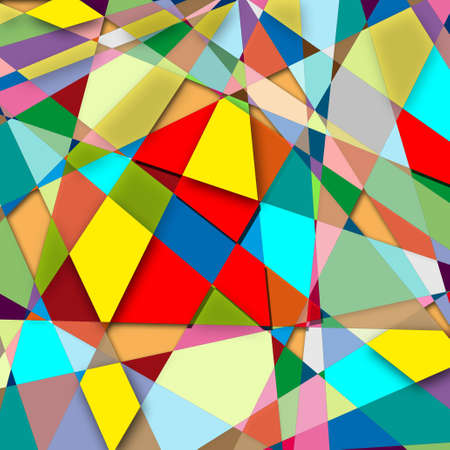 paperhanging: Abstraction at which the figures of different sizes and colors
