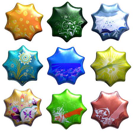 Colorful stars photo