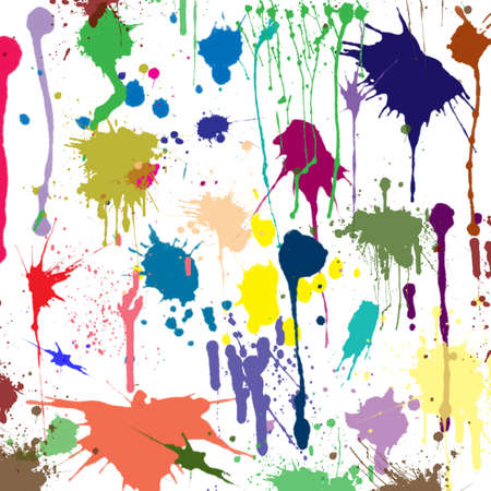 blotches: Multicolored bright blotches of different types