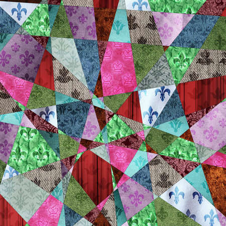 paperhanging: Collage of clippings wallpapers of different shapes and colors