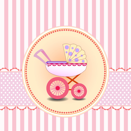 baby girl: New baby girl arrival card