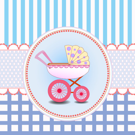new baby: New baby girl arrival card