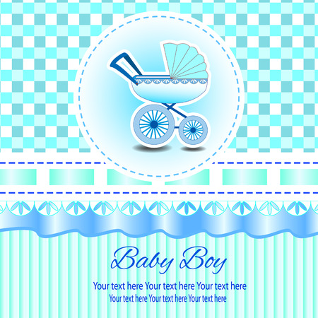 congratulate: Romantic scrapbooking (vector version eps 8). Baby beautiful girl card with your text for invitation, greeting, frame, birthday, label, postcard, congratulate, frame, gift and etc. Illustration