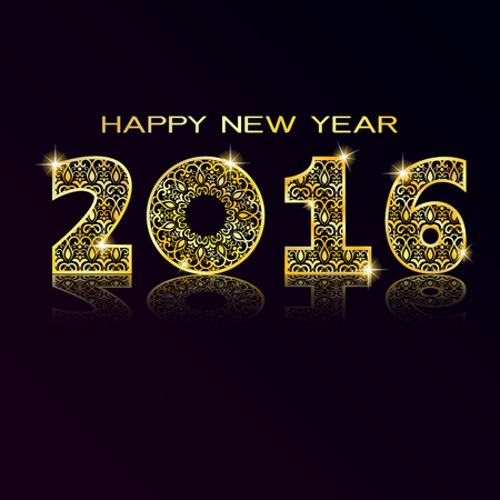 new opportunity: 2016 Happy New Year greeting card or background. illustration Illustration