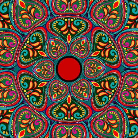 ornamental background: Abstract Ethnic Ornate Background For Design