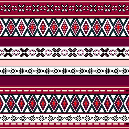 royal safari: Tribal art boho seamless pattern