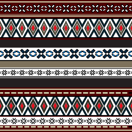 blanket: Tribal art boho seamless pattern