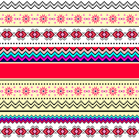 sewing pattern: Tribal art boho seamless pattern
