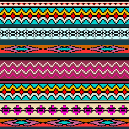fabric art: Tribal art boho seamless pattern