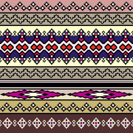 poncho: Tribal art boho seamless pattern. Ethnic geometric print. Colorful repeating background texture. Fabric, cloth design, wallpaper Illustration