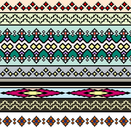 rug texture: Tribal art boho seamless pattern. Ethnic geometric print. Colorful repeating background texture. Fabric, cloth design, wallpaper Illustration