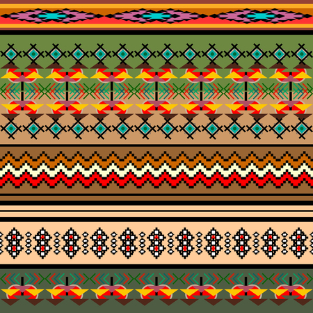 textile fabrics: Ethnic geometric print. Colorful repeating background texture. Fabric, cloth design, wallpaper