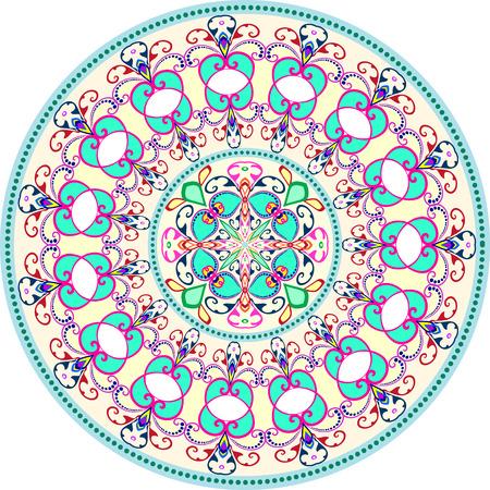 royal safari: Tribal art boho seamless pattern. Ethnic geometric print. Colorful repeating background texture. Fabric, cloth design, wallpaper Illustration