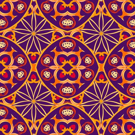 Vector seamless texture. Beautiful pattern for design and fashion with decorative elements. Portuguese tiles illustration.