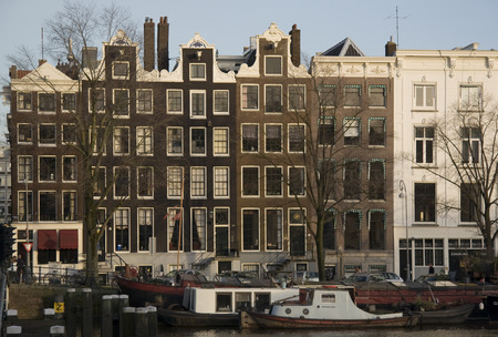 amstel river: Amsterdam building along the Amstel river