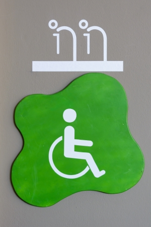 oldman: toilet sign at mall for oldman and handicapped