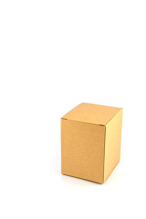 paper box lying isolated white background photo