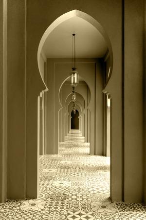 walkway moroccan style decor photo