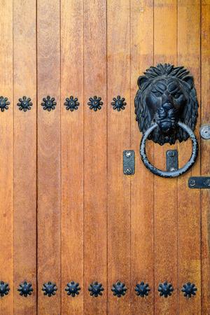 wooden door korean style photo