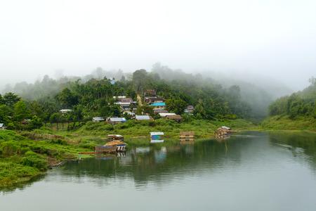 Sangkhlaburi in the mist, Thailand photo