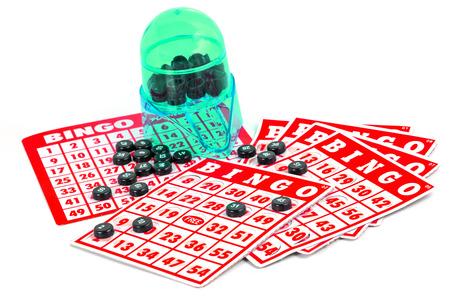 jeu de carte: jeu de cartes Bingo isol� Banque d'images
