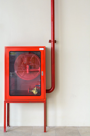 presure: Fire extinguisher equipment on the wall