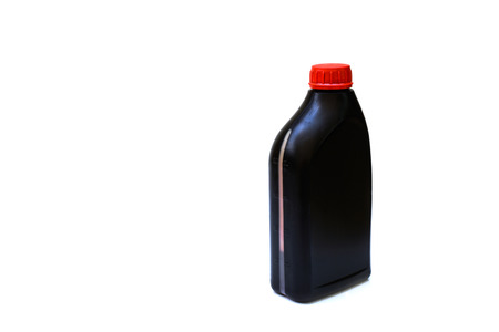 lubricate: bottle of lubricant for car isolated on white background Stock Photo