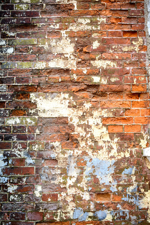 Old grunge briack wall textured background photo