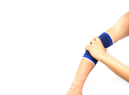 Arm with a elbow support isolated on white