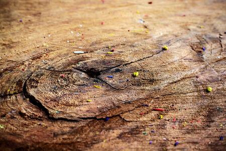 Close up of Old crack wood textured with color and dust photo