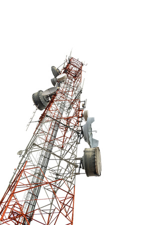 Antenna Tower of Communication isolated on white background