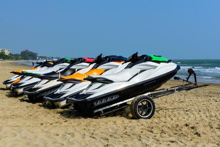 jetski: Jetski on the beach for rent