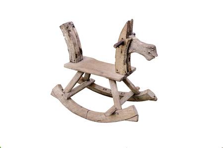 rocking: rocking seesaw horse isolated on white background Stock Photo