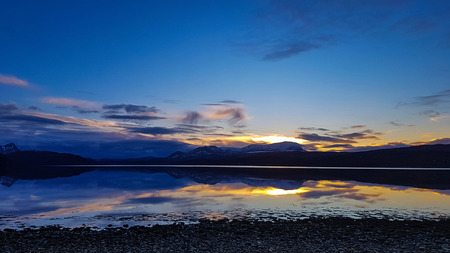 The spectacular tongue lake in Scotland 版權商用圖片