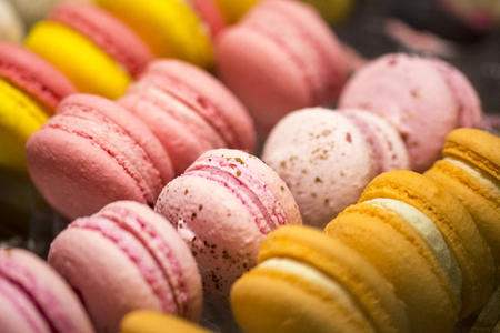 Colorfull macaroons with different flavors