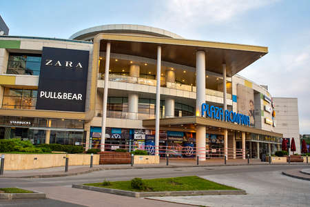 08 June 2020:Bucharest, Romania. The plaza mall shut down during the pandemic time with coronavirus or covid-19 新聞圖片