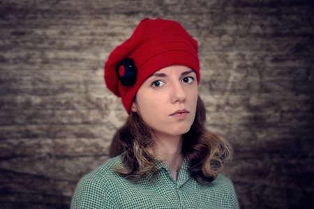girl wearing hat