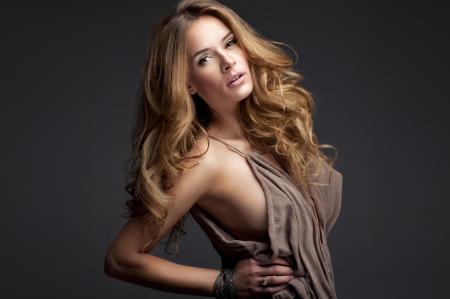 cute blonde: Portrait of beautiful blonde woman