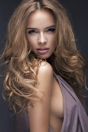 Güzel sarışın kadının portresi Stock Photo