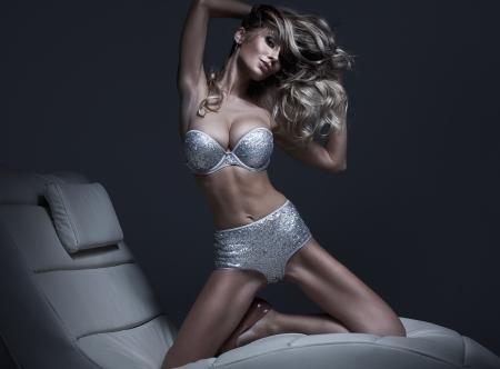 girls underwear: Beautiful fashion woman  Stock Photo
