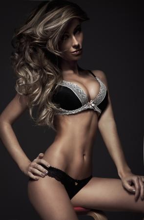 sexy love: Beautiful fashion woman  Stock Photo