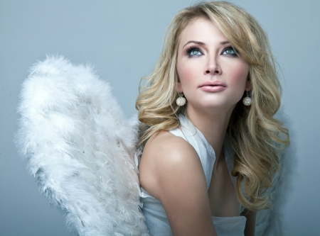 sexy angel: Beautiful blonde angel
