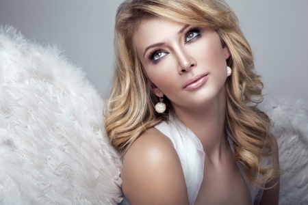 sexy angel: Beautiful blonde angel