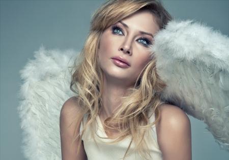 Beautiful blonde angel  photo