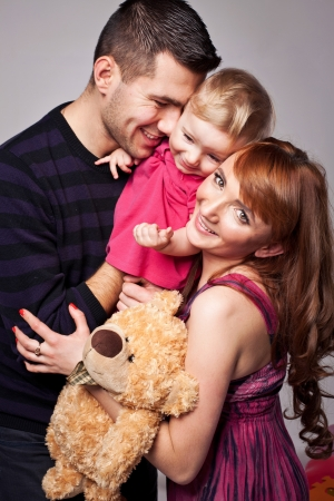 Portrait of a playful family  photo