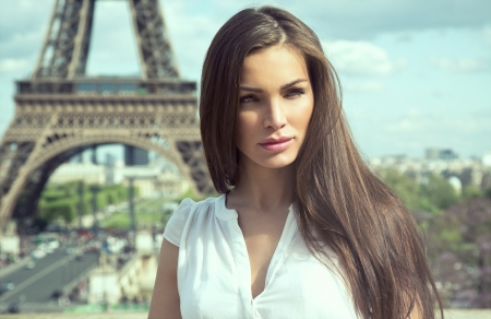 Fashion woman in paris photo