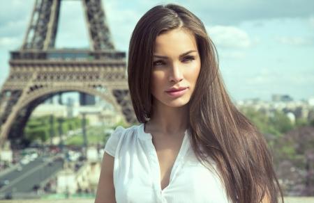 Mulher de moda em Paris